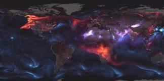 Ψυχεδελική αναπαράσταση της ατμοσφαιρικής ρύπανσης από τη NASA (βίντεο)